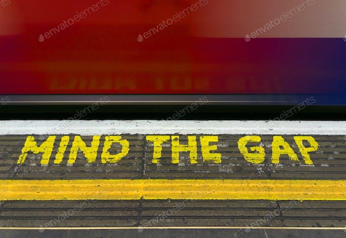 Mind the gap warning