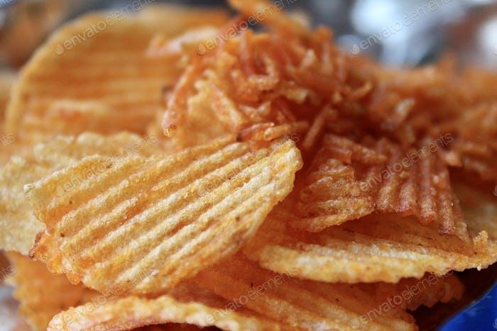 Paprika flavoured chips , junk food , snacks , chips