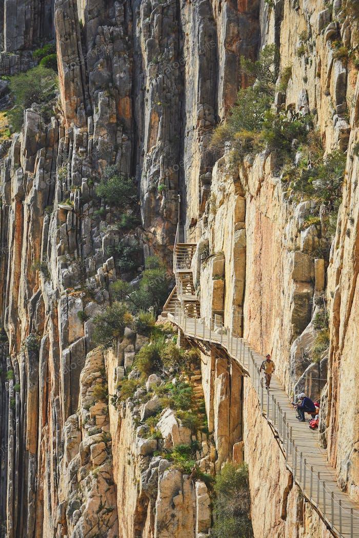 Trekking path in a rift