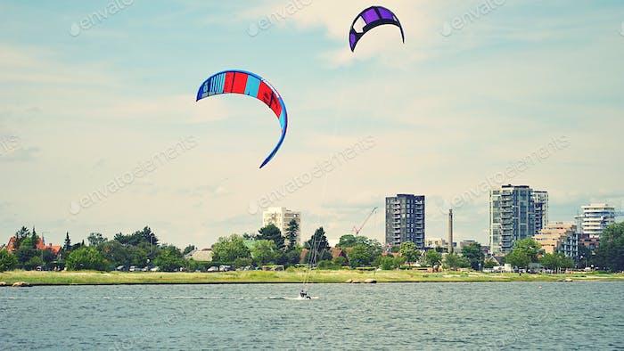 Kite surfing in Scandinavia