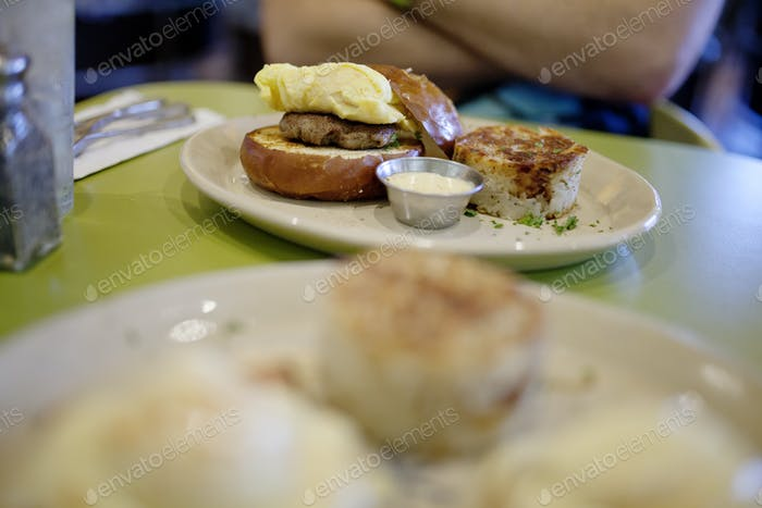 Fancy breakfast food