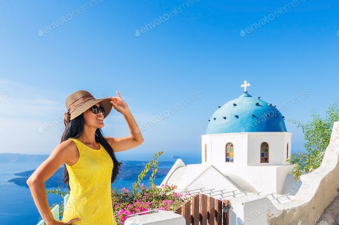 Woman in summer fashion on vacation