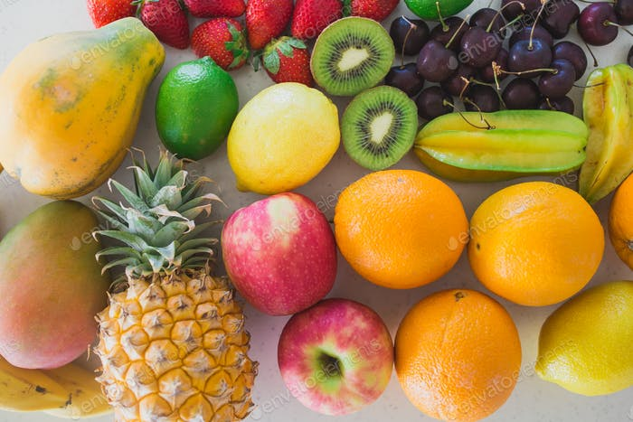 Colorful array of fruits