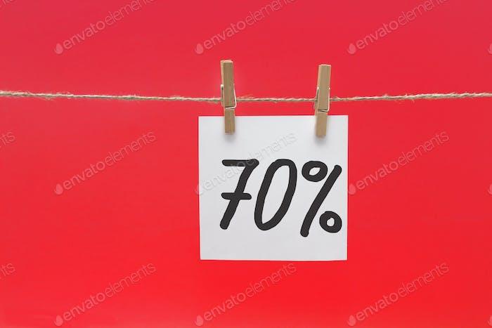 70% Rabatt