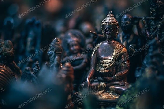 Gold Buddha Brass Statue