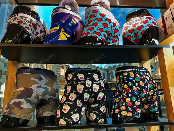 Retail shopping display forfunky underwear