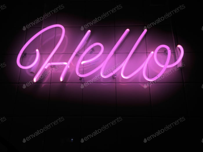 Neon Greetings