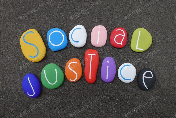 World Day of Social Justice on February celebrated with colored stones