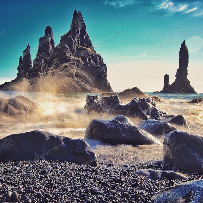 Reynisdrangar-Säulen, Vik, Island