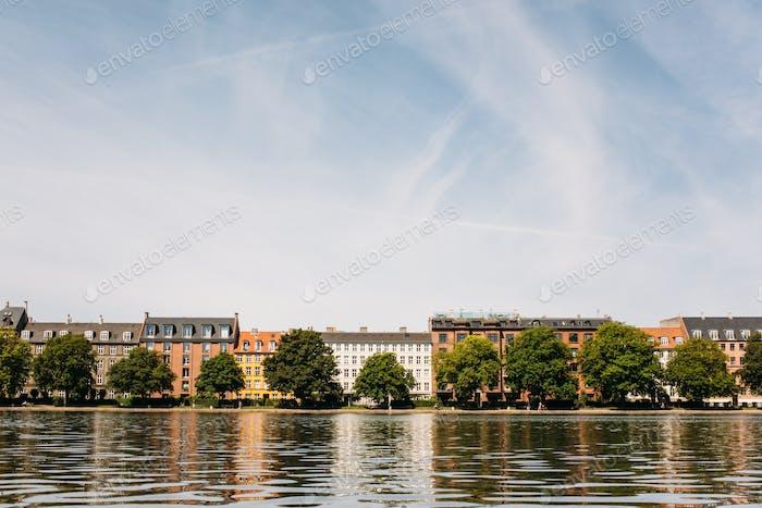 Copenhagen Houses, Trees, Canal