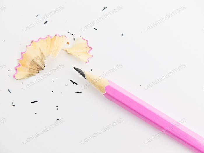 sharpened pink pencil