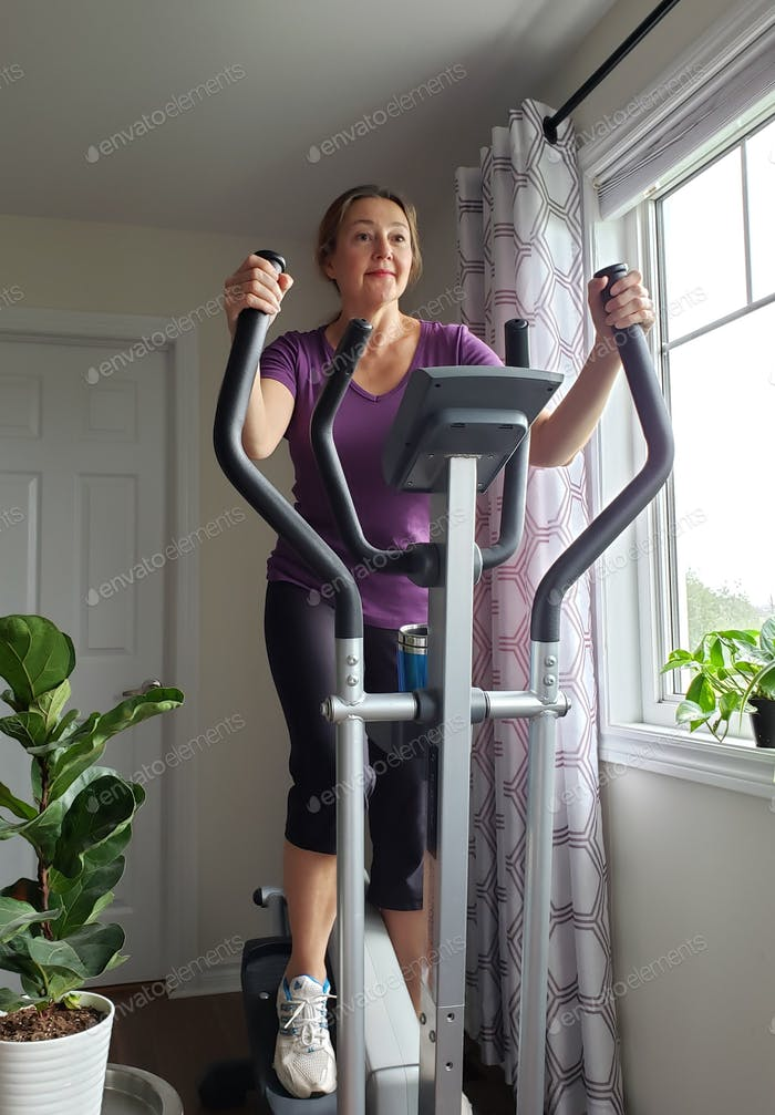 Woman is working cardio exercise,  🚩Nominated 🚩