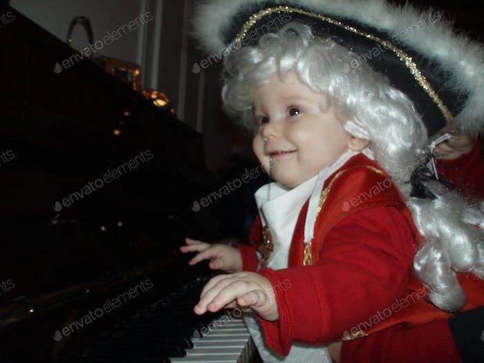 Costume party ... little Mozart