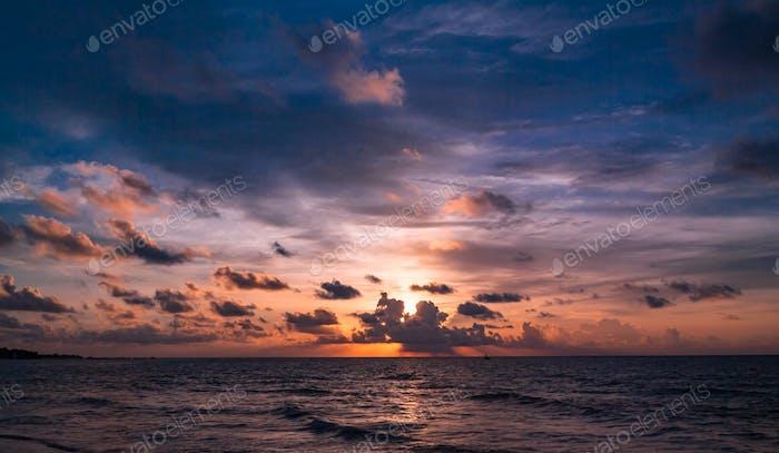 Beautiful sunrise in the Caribbean