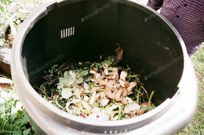 Compost bin in Montreal, Quebec, Canada