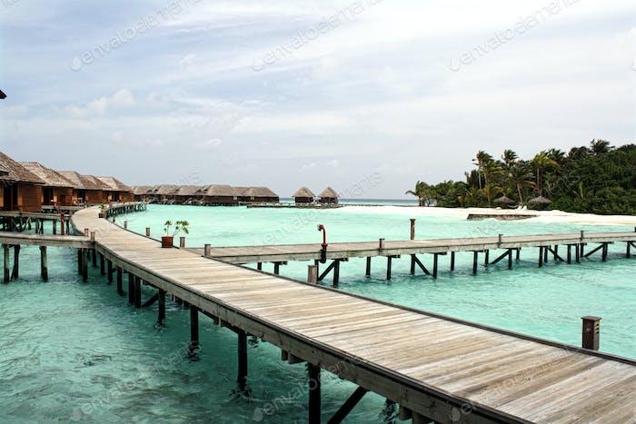 water villas and deck