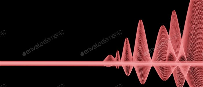 Ilustración, estructura alámbrica, malla, rejilla, curvas, Resumen, ondas sonoras, ondas de sonido, fondo, onda de sonido, rojo