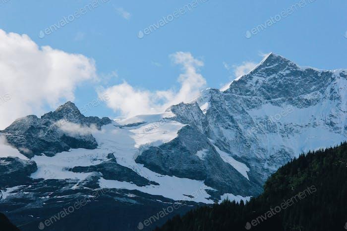 Top mountain of alpine in switzerland