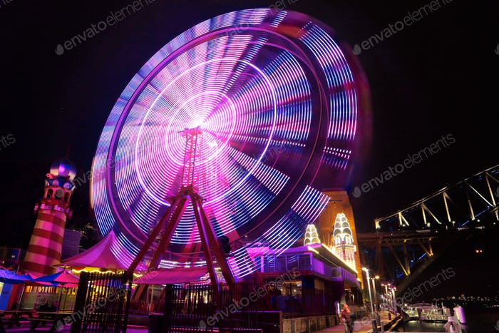 Ferris Wheel at night - Sydney Harbour