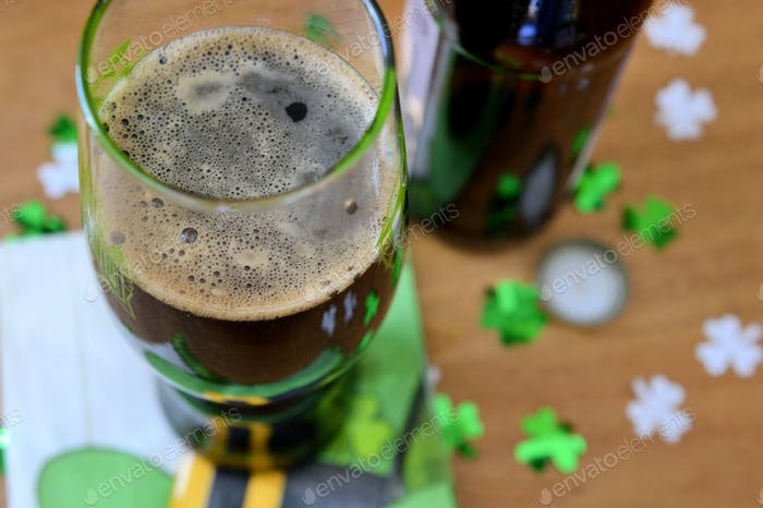 Luck of the Irish Party - Having a beer on St