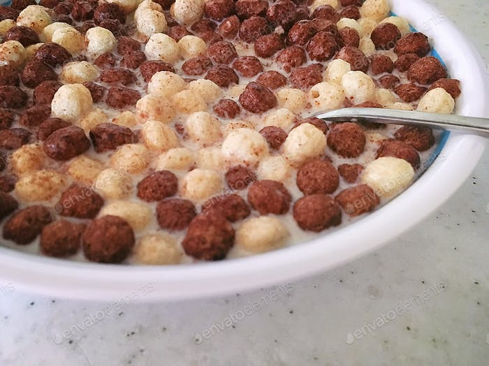 Breakfast, cereal with milk