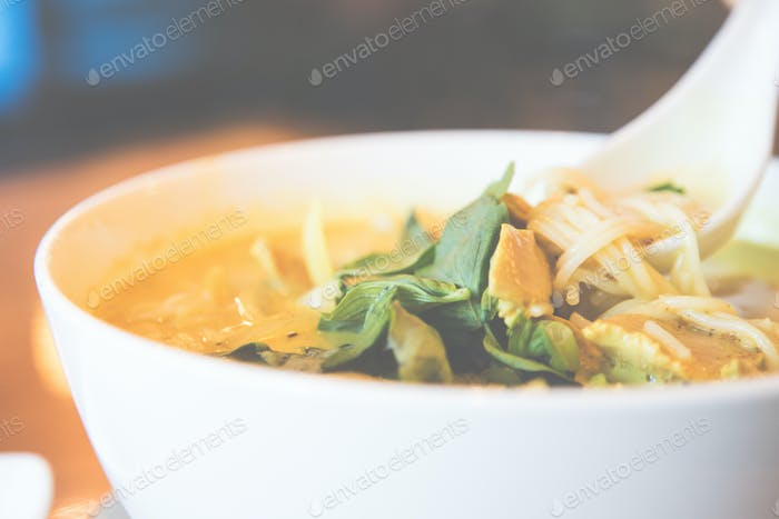 Vietnamese Curry Chicken Pho