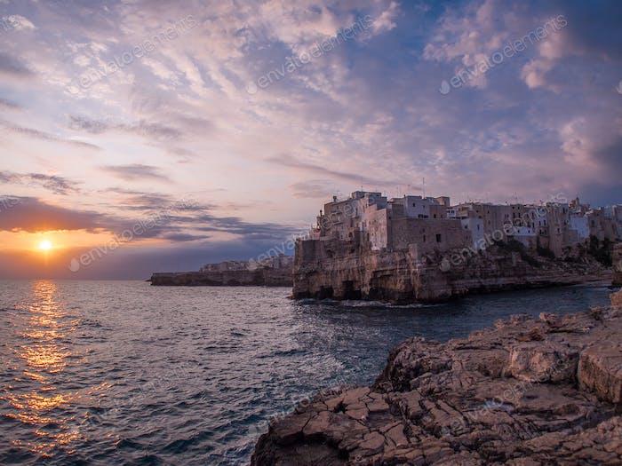 Sunrise at Polignano a Mare, Italy