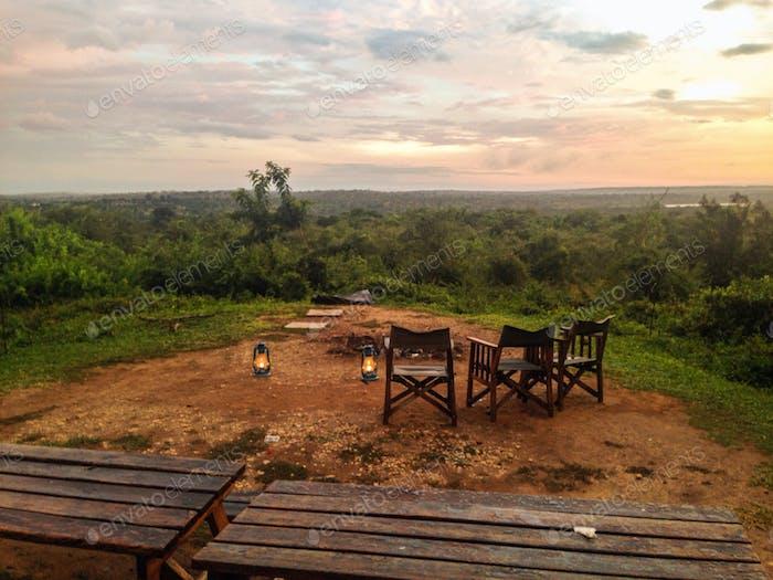 Campingplatz - Safari. Uganda