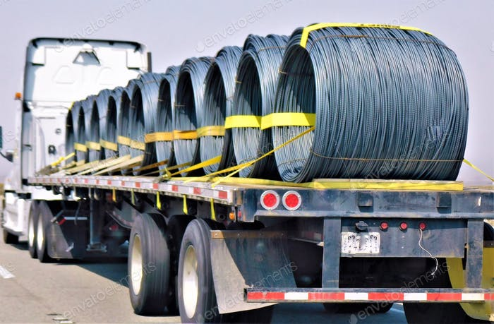TRUCKING! Coils of Wire!