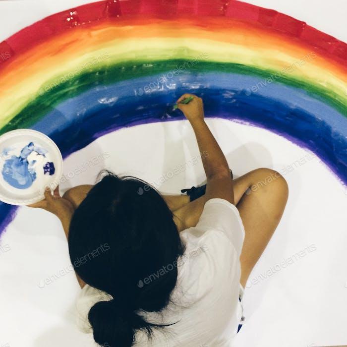 Drawing rainbow