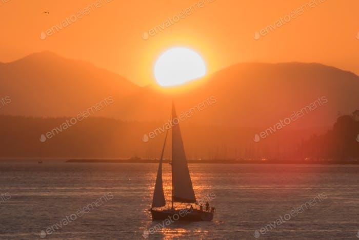 Sailboat sun