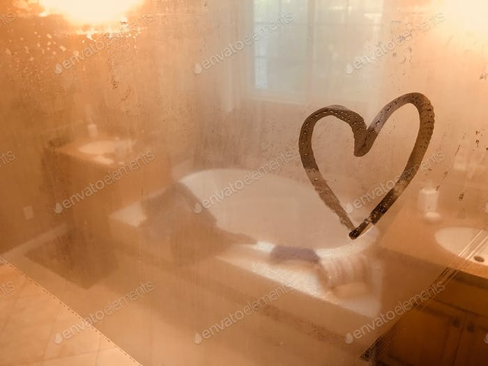 NOMINATED Liebesbotschaft an der Duschtür. Liebesnotiz Beziehungen Paarziele