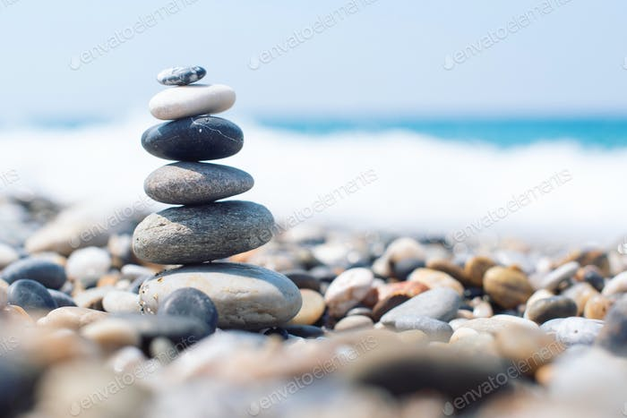 Stones on the beach. Zen.