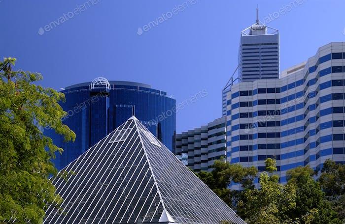 Modern architecture in the city of Perth, Australia