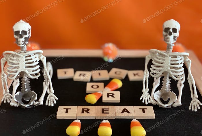 """""""Trick or Treat"""" Halloween theme letter board concept"""