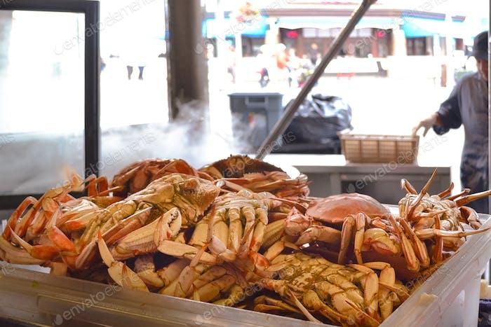 Crabs at Fisherman's Wharf.