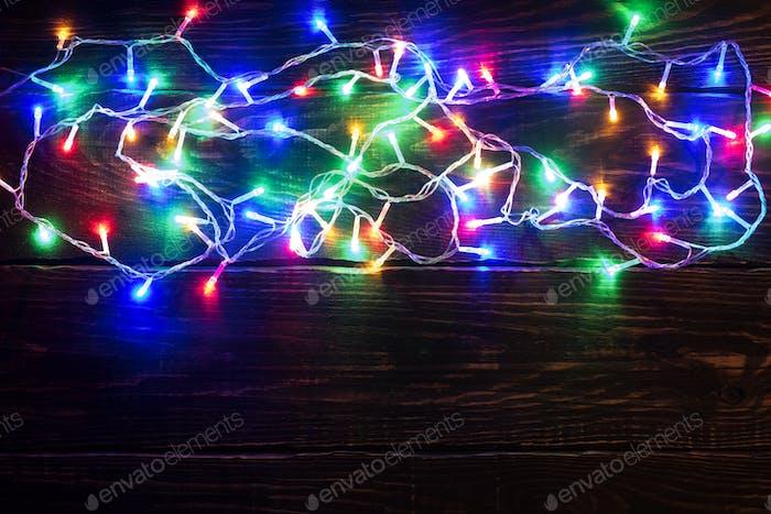 Christmas lights background