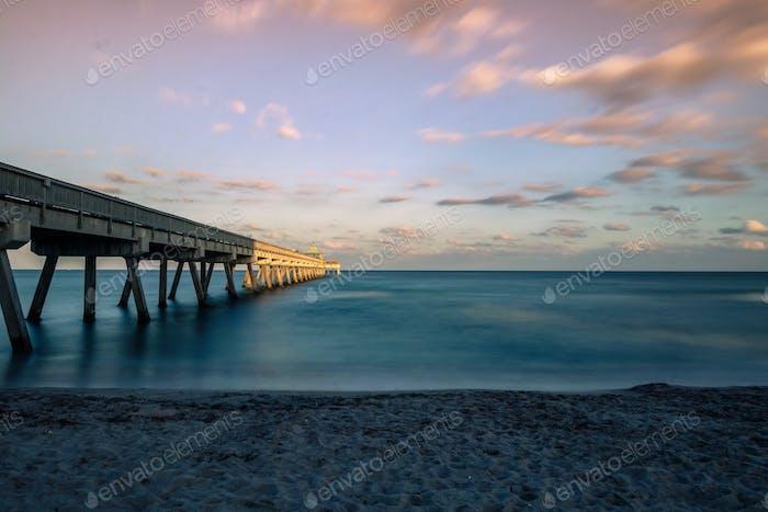 Long exposure of pier
