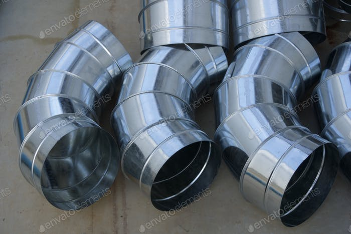 Elbow Spiral air duct for HVAC system