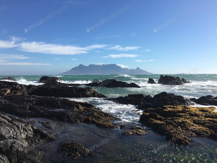 Table Mountain from Blouberg Strand, South Africa