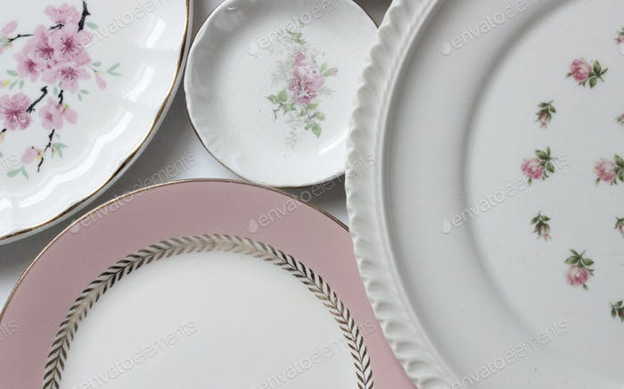 Vintage plate collection with room for copy