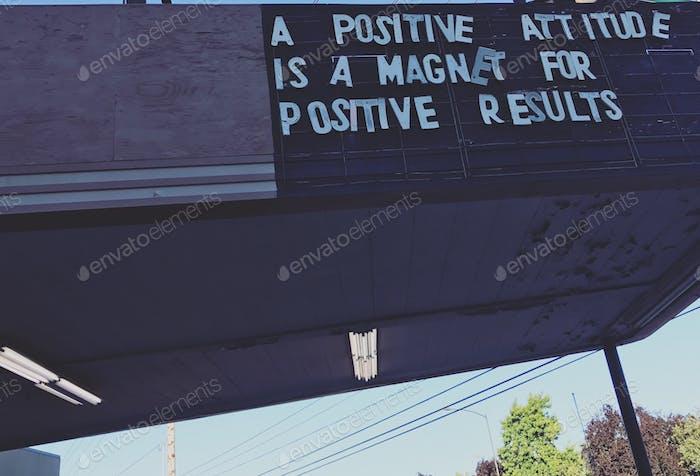 « una actitud positiva es un imán para resultados positivos»