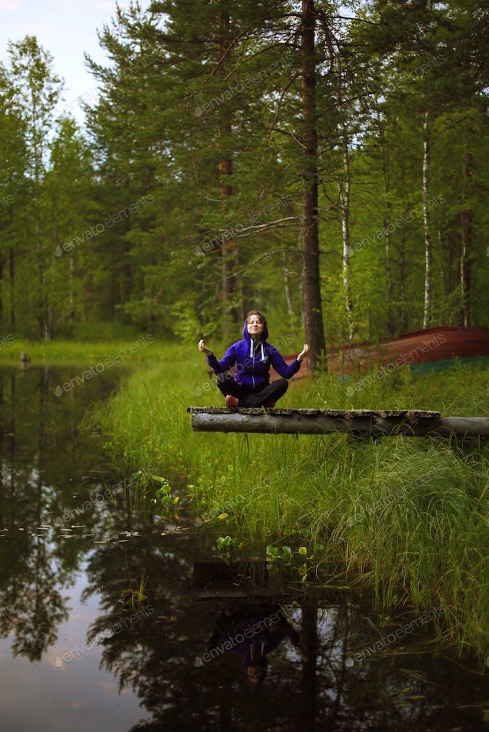 outdoors yoga