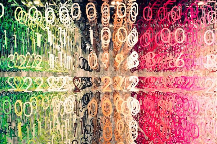 Números digitales coloridos
