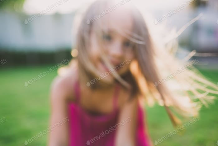 Blurry portrait of a girl