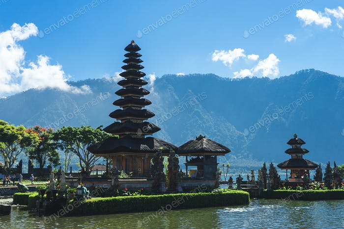 Floating temple in Bali, Indonesia
