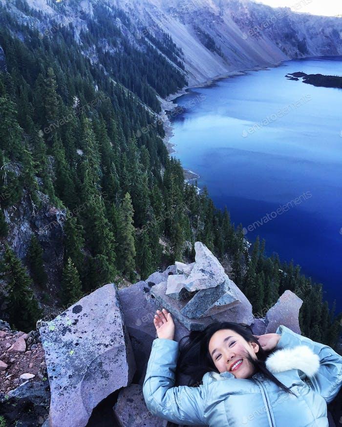 Crater Lake, Oregon. Einer der schönsten Seen der Welt! Der blauste ist sicher!