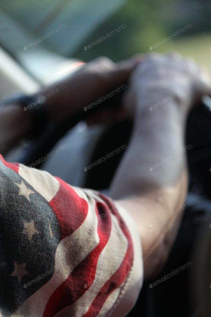 Patriotic driver