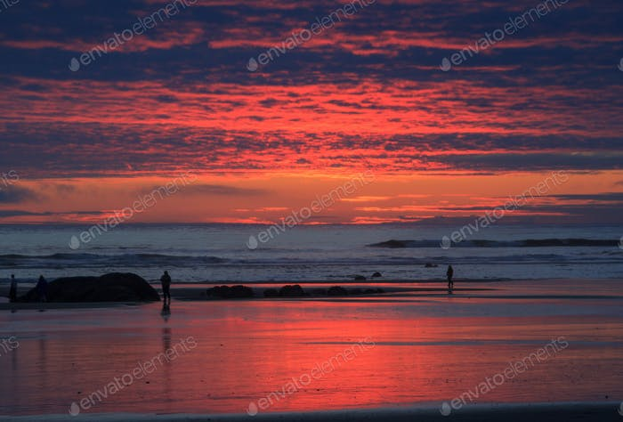 Sunset over the Pacific Ocean
