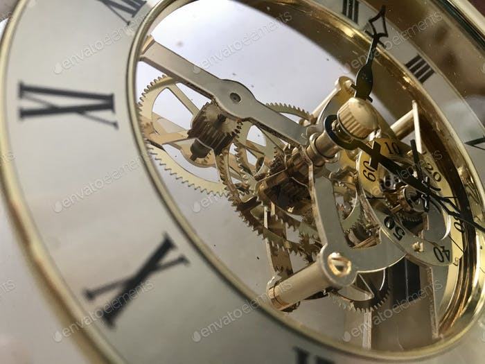 Mechanical works of a clock